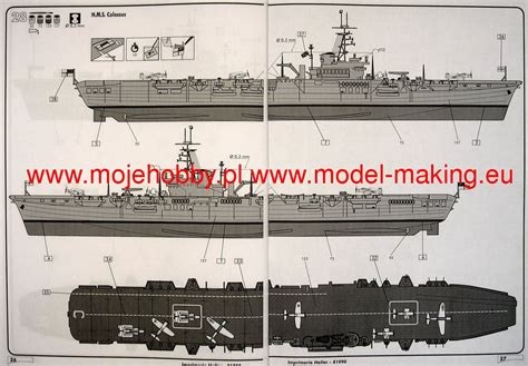 British aircraft-carrier HMS Colossus Heller 81090