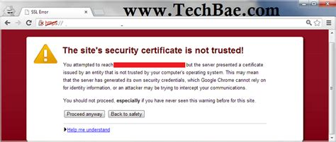 Fix SSL Connection Error in Google Chrome Browser [Solved]