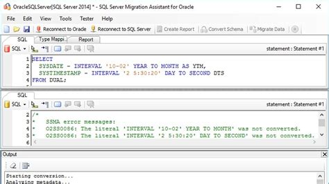 How to convert interval literals from Oracle to SQL Server