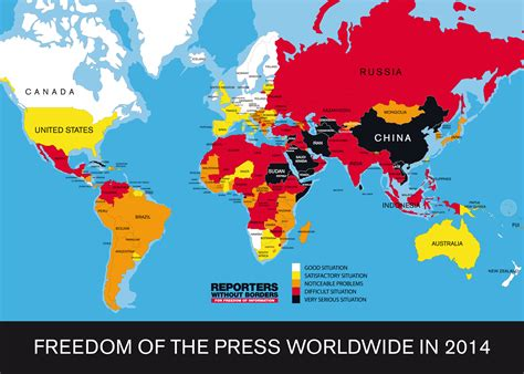 This World Map Shows Where Press Freedom Is Strongest And