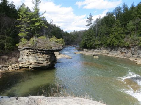 The Hike At Swallow Falls State Park In Maryland With TWO