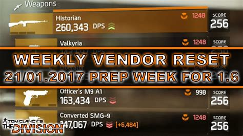 The Division Weekly Vendor Reset | 21/01/2017 | 1