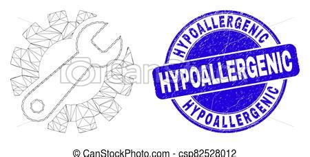 Blue distress hypoallergenic stamp and web mesh gear tools