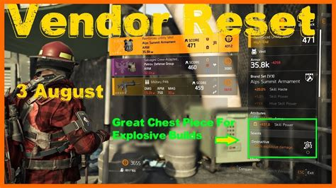 The Division 2 | Weekly Vendor Reset | High Skill Power