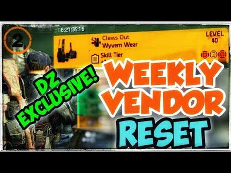 Division 2 - WEEKLY VENDOR RESET (6-23-2020) | CLAWS OUT